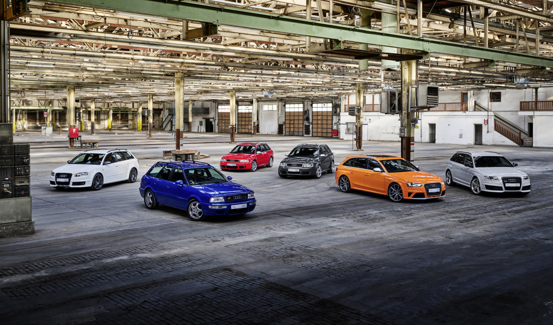 Topprestaties. Boordevol karakter. Uniek. Audi Sport viert 25 jaar Audi RS-modellen