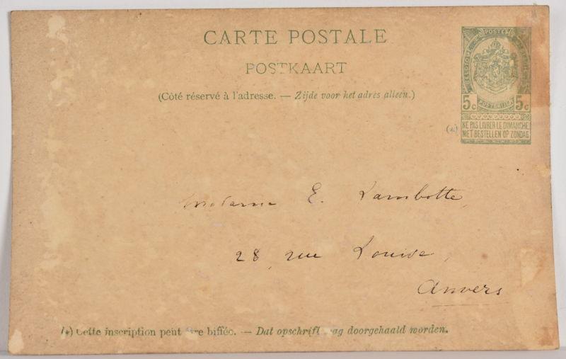 Le Pêcheur d'Ostende (verso)