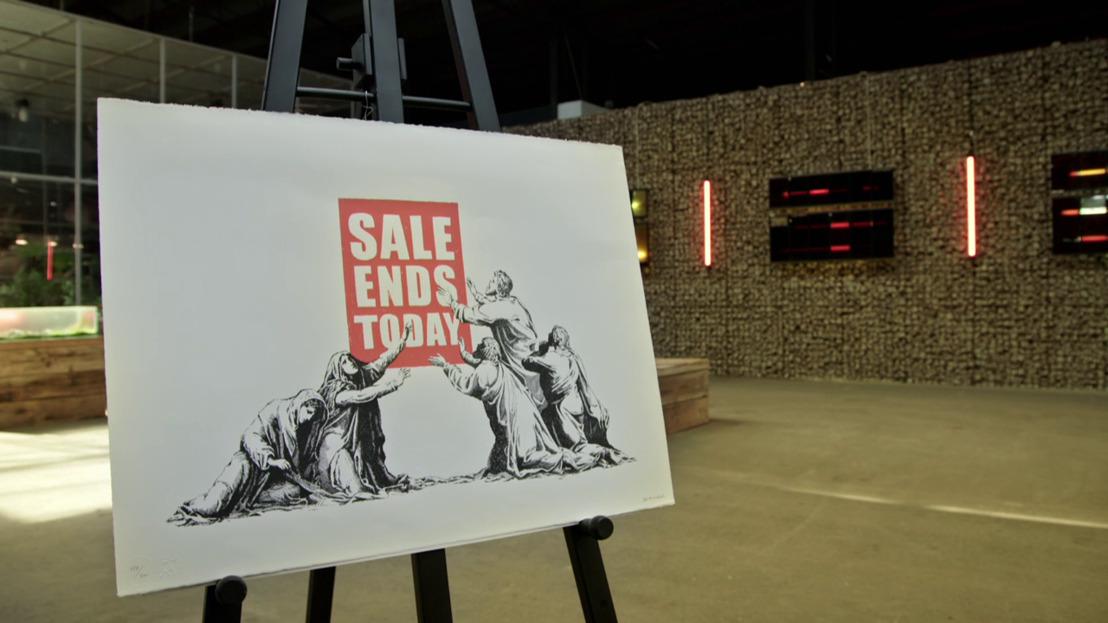 Experten moeten het grote geld bovenhalen voor zeldzame Banksy-print