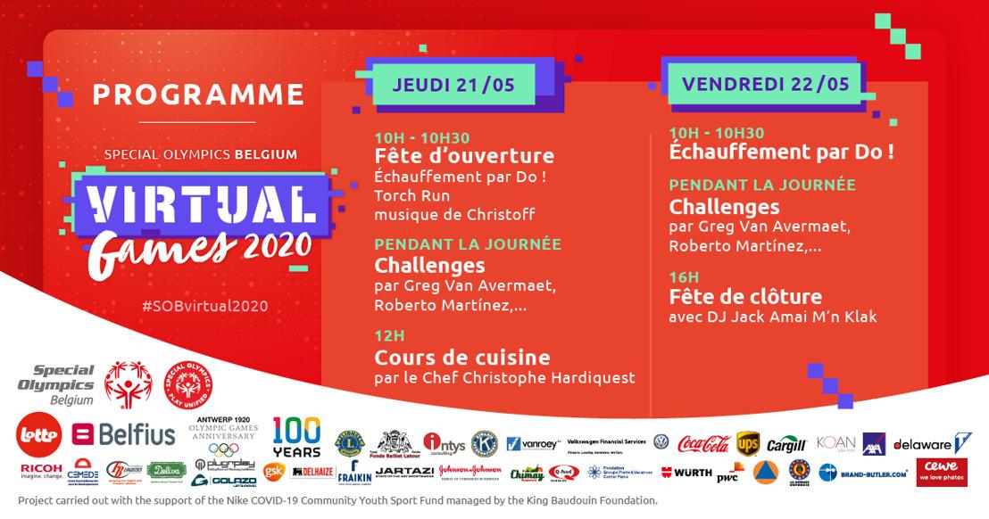 Communiqué de presse : 5 personnalités sportives lancent les challenges des Jeux Virtuels Special Olympics Belgium 2020