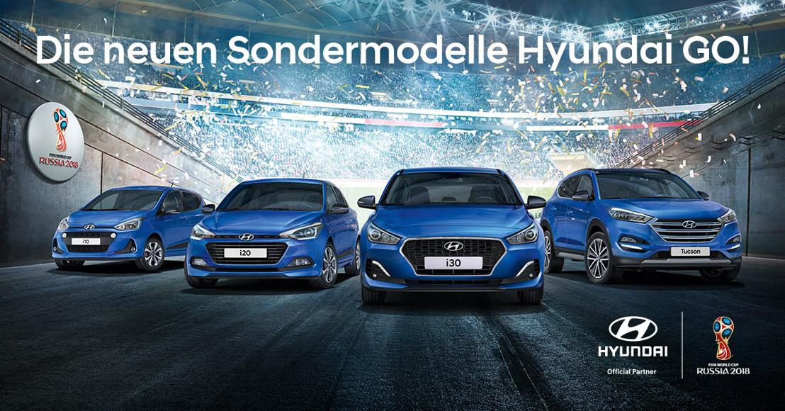 Hyundai i10, i20, i30 und Tucson als GO! und GO! Plus Special Edition mit attraktivem Fussball WM-Bonus!