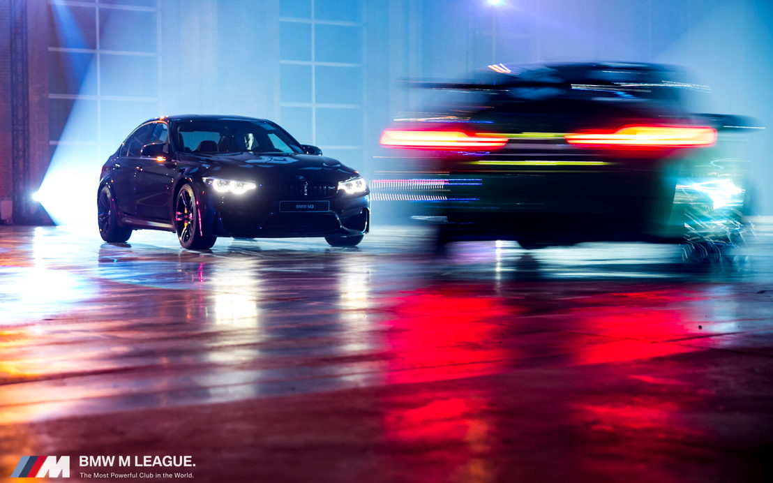 Stuntshow met BMW M wagens