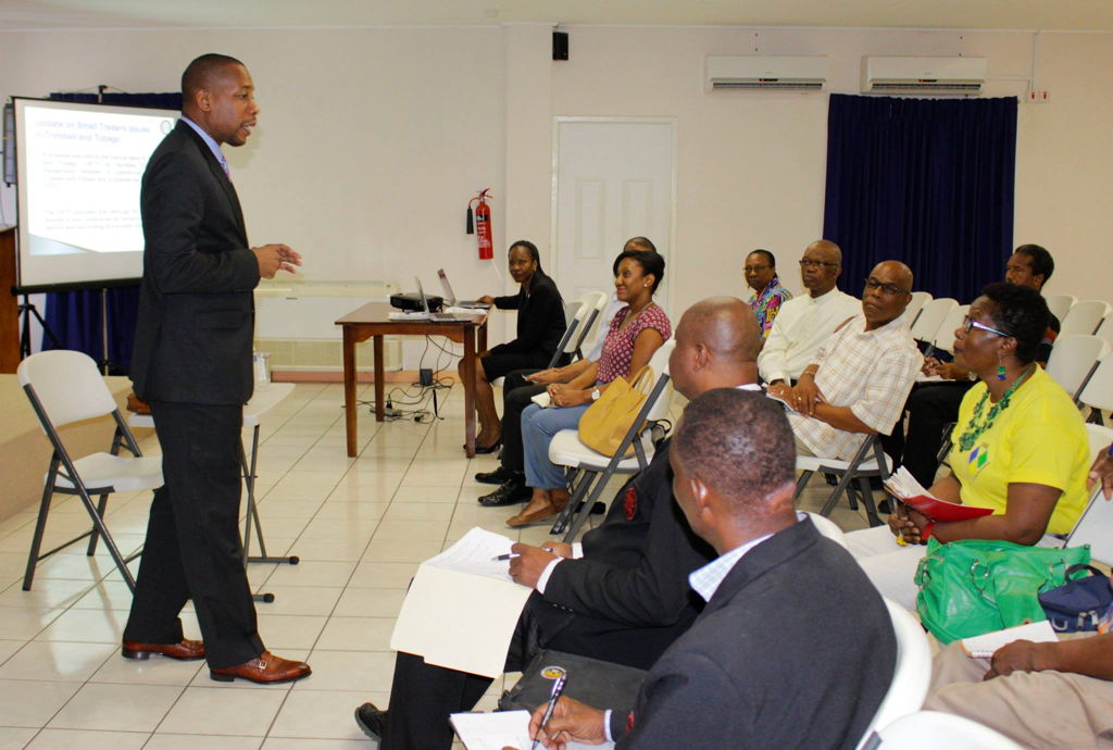 Governor Antoine addresses stakeholders in St Vincent and the Grenadines.