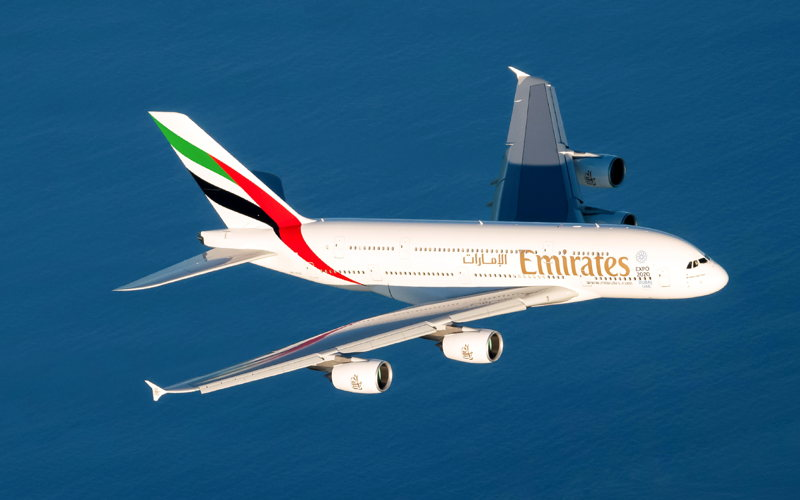 The iconic Emirates A380.