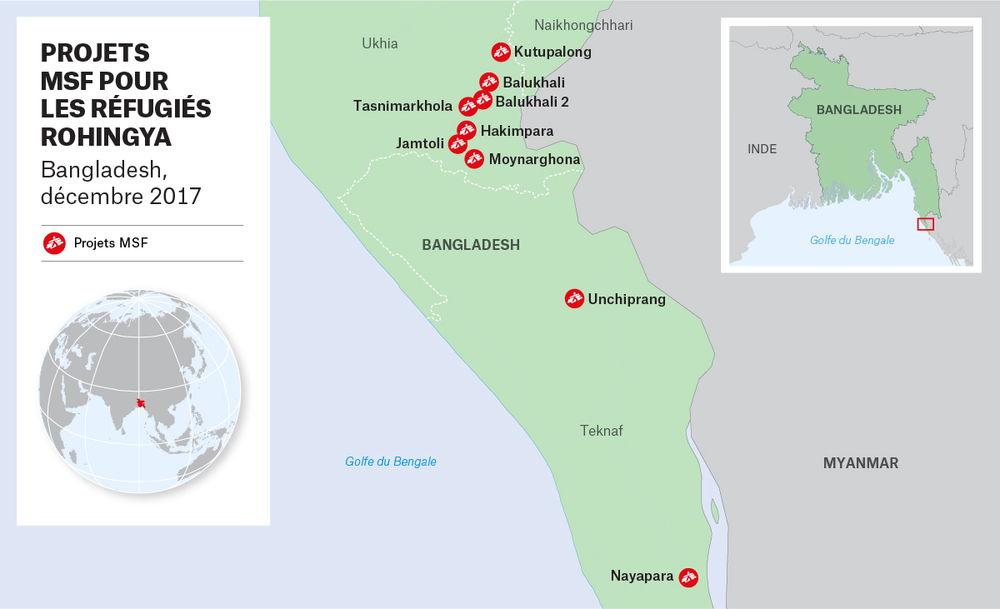 Carte des projets MSF.
