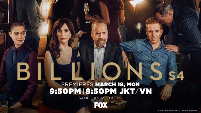 Preview: SHOWTIME® hit drama Billions returns to FOX in Asia for fourth season