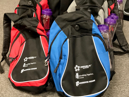 Duquesne Light Teams with Hosanna House for Backpack Giveaway