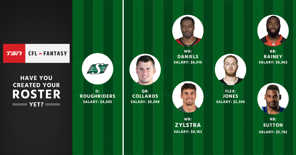 Set and share your roster in TSN CFL Fantasy!