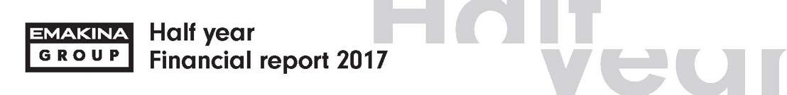 Emakina Group: Halfjaarlijkse resultaten 2017: groei bedrijfsopbrengsten