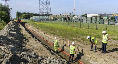 Fluvius graaft 2,3 km sleuf in de Antwerpse haven voor meer groene stroom
