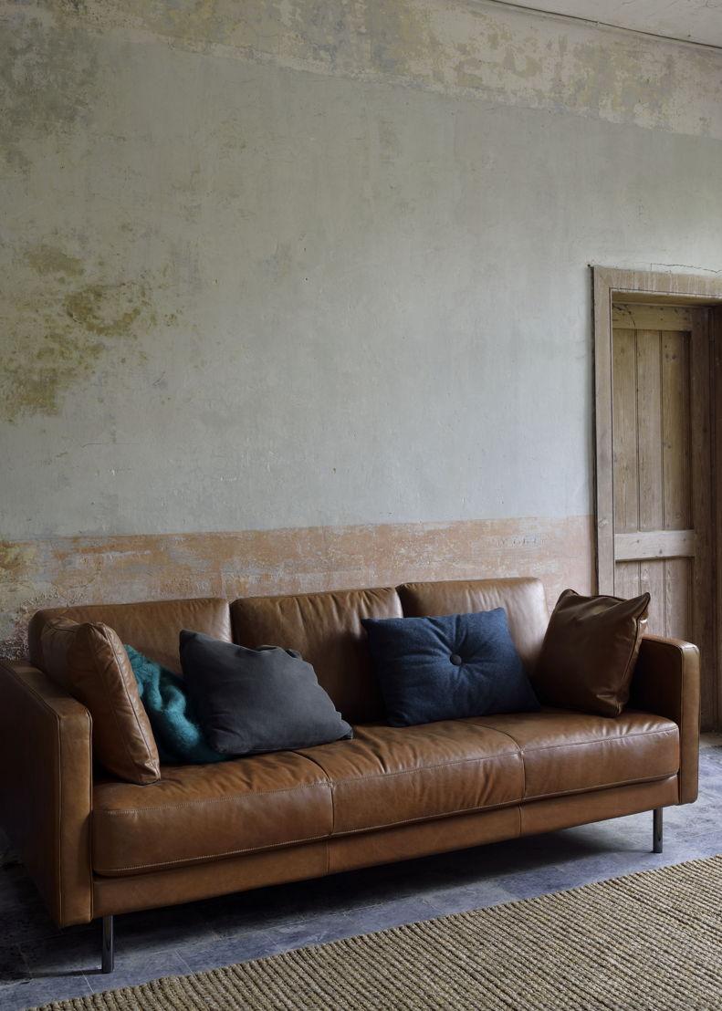 Ethnicraft N501 3 seater sofa, old saddle leather