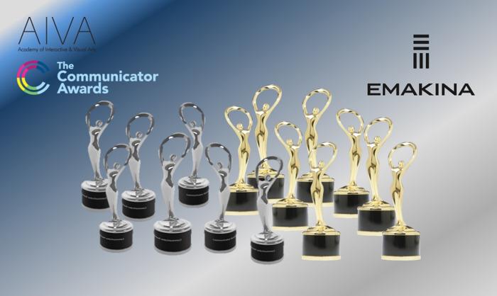 Emakina beloond met 19 prijzen op Communicator Awards