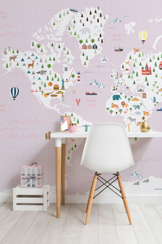 Cute 'n' Cultural Kids Map Murals