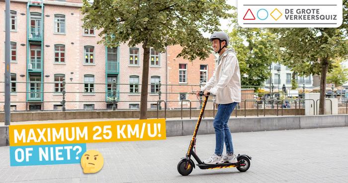 Elektrische step: respecteer de maximale snelheid!