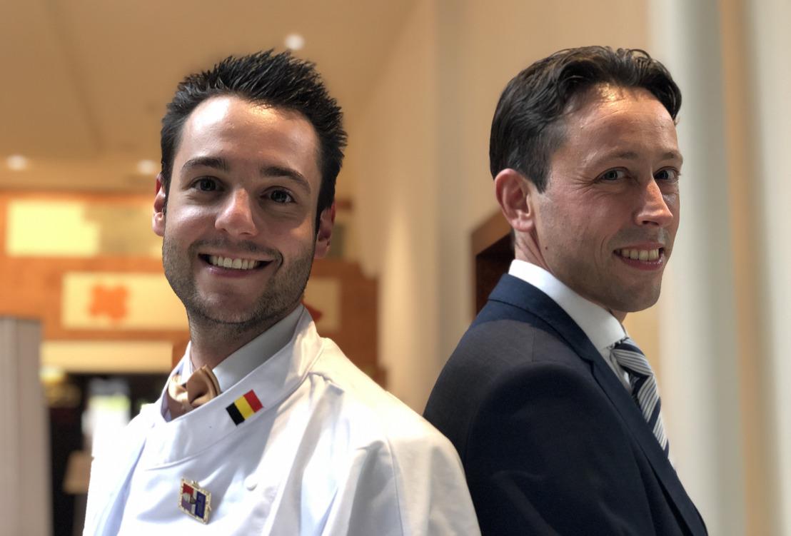 Ruben Lamiroy a remporté le concours 'Premier Cuisinier de Belgique 2021'. Sam Verheecke est le 'Premier Maître d'Hôtel de Belgique 2021'