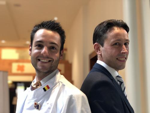 Ruben Lamiroy is 'Eerste Kok van België 2021' en Sam Verheecke wint de wedstrijd 'Eerste Maître d'Hôtel van België 2021'