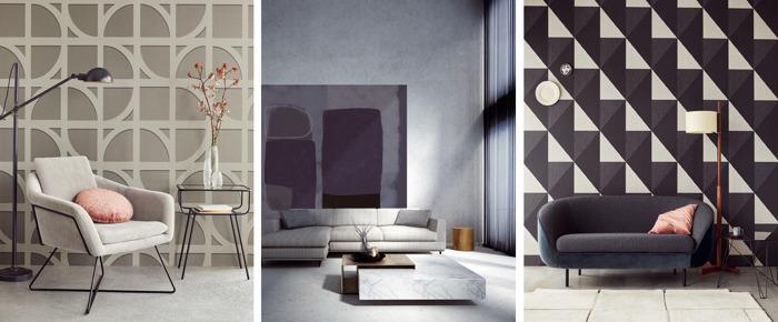 La marque de papier peint Eijffinger en impose avec des dessins monumentaux modernisés