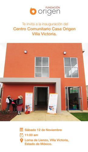 Inauguración del Centro Comunitario Casa Origen en Villa Victoria