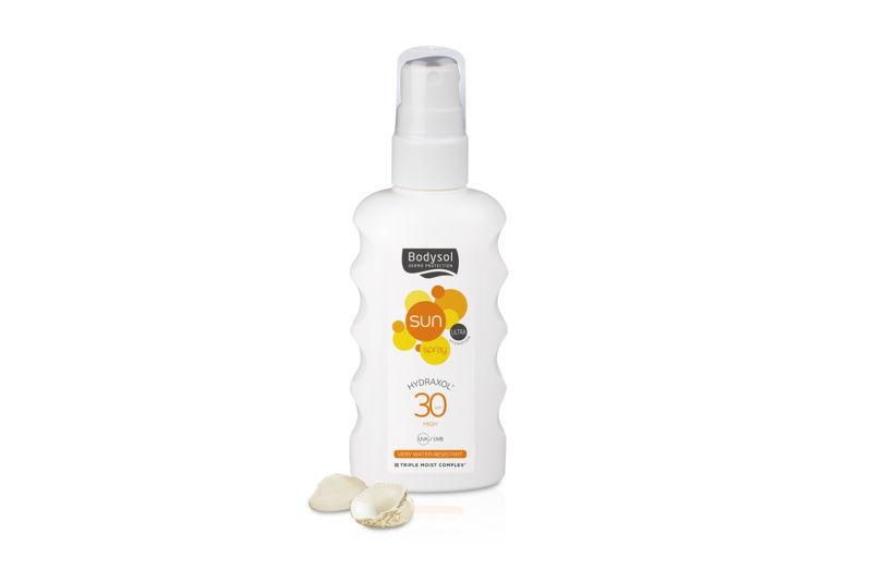 Bodysol Sunspray Hydraxol SPF 30: €15,95 (175 ml)