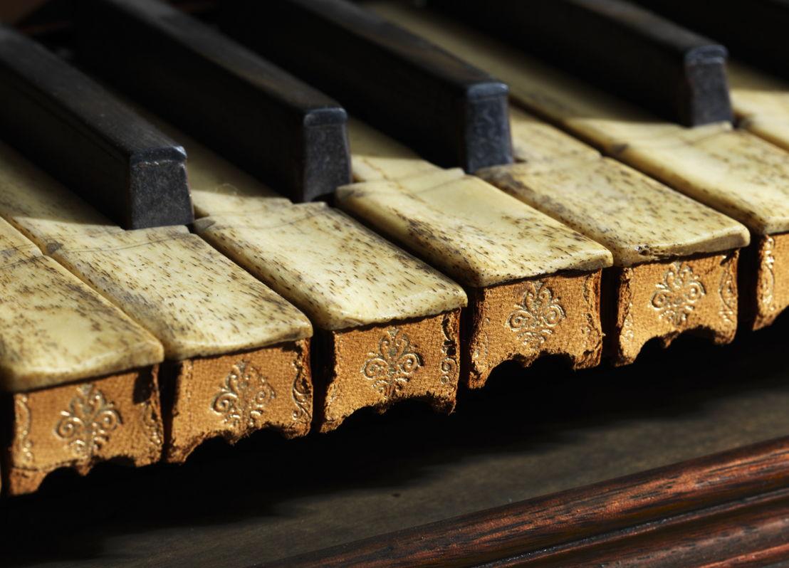 detail van een klavier (Andreas Ruckers-klavecimbel, 1646)