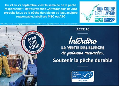 Carrefour se joint à la Semaine de la Pêche Responsable