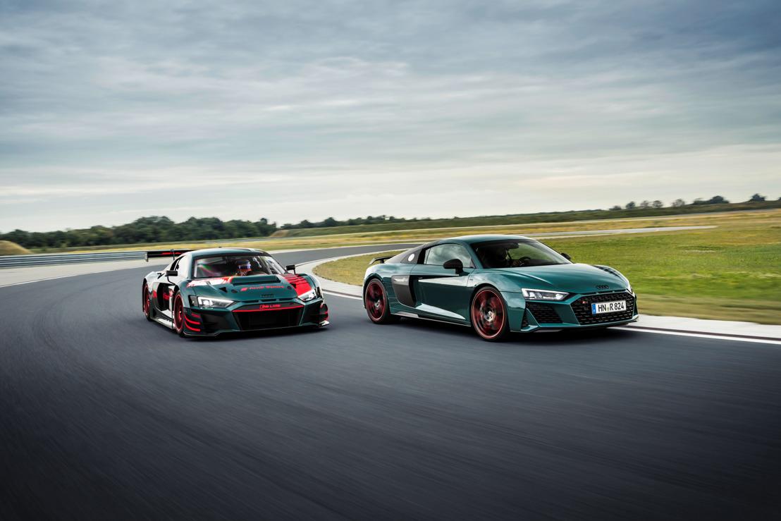 Hommage à la R8 LMS et ses succès : l'Audi R8 green hell
