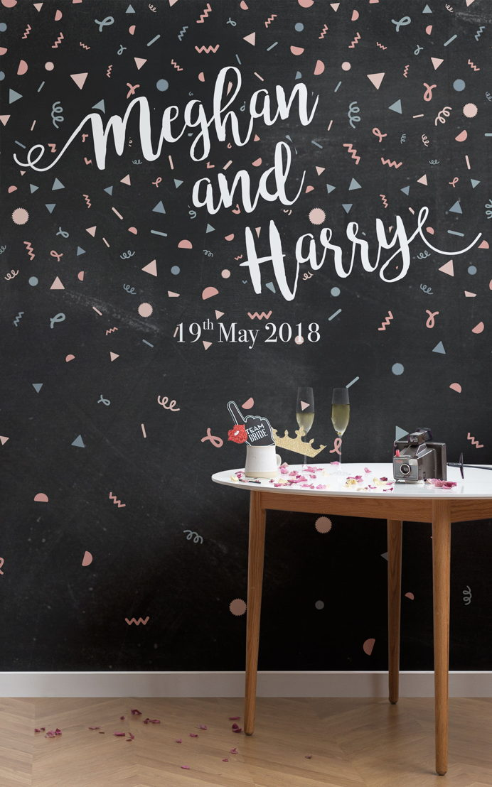 Personalised Confetti Wallpaper Mural