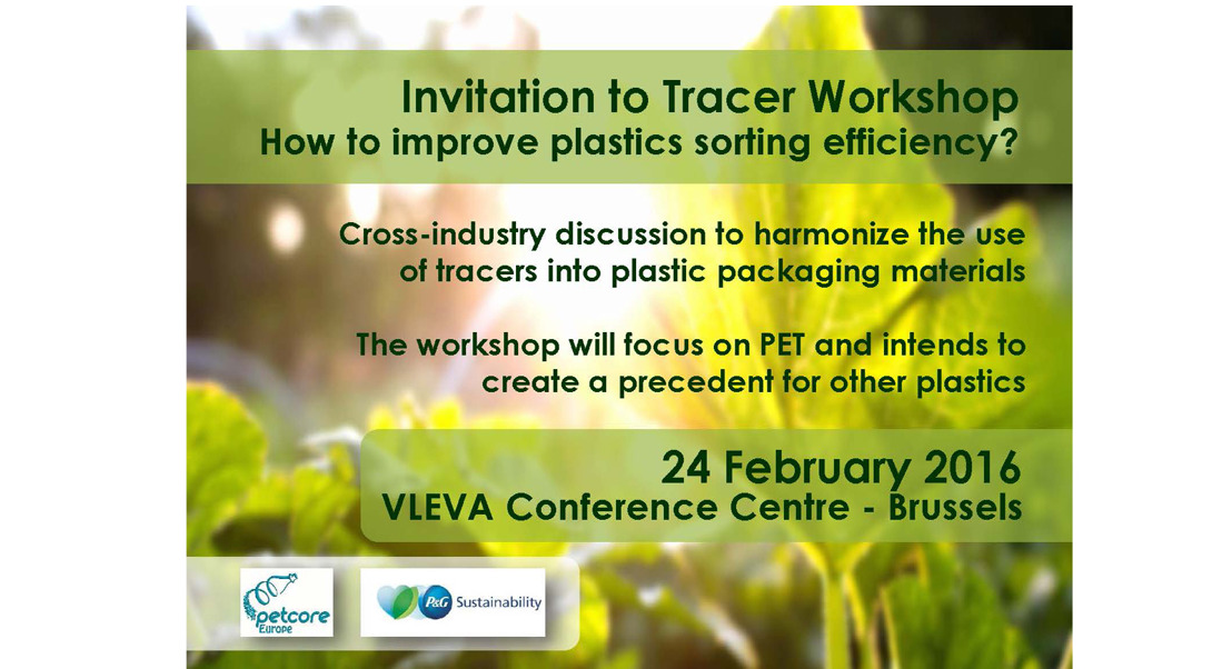 INVITATION to Tracer Workshop on 24 February 2016 in Brussels: How to improve plastic sorting efficiency?