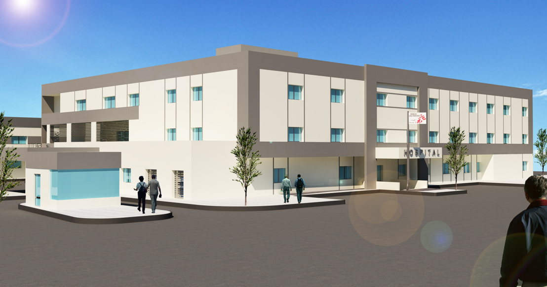 Artist's view of Bar Elias hospital in Lebanon. This secondary referral centre will provide general and orthopaedic surgical services in the Beqaa Valley, where the number of Syrian refugees is estimated at 1,500,000.