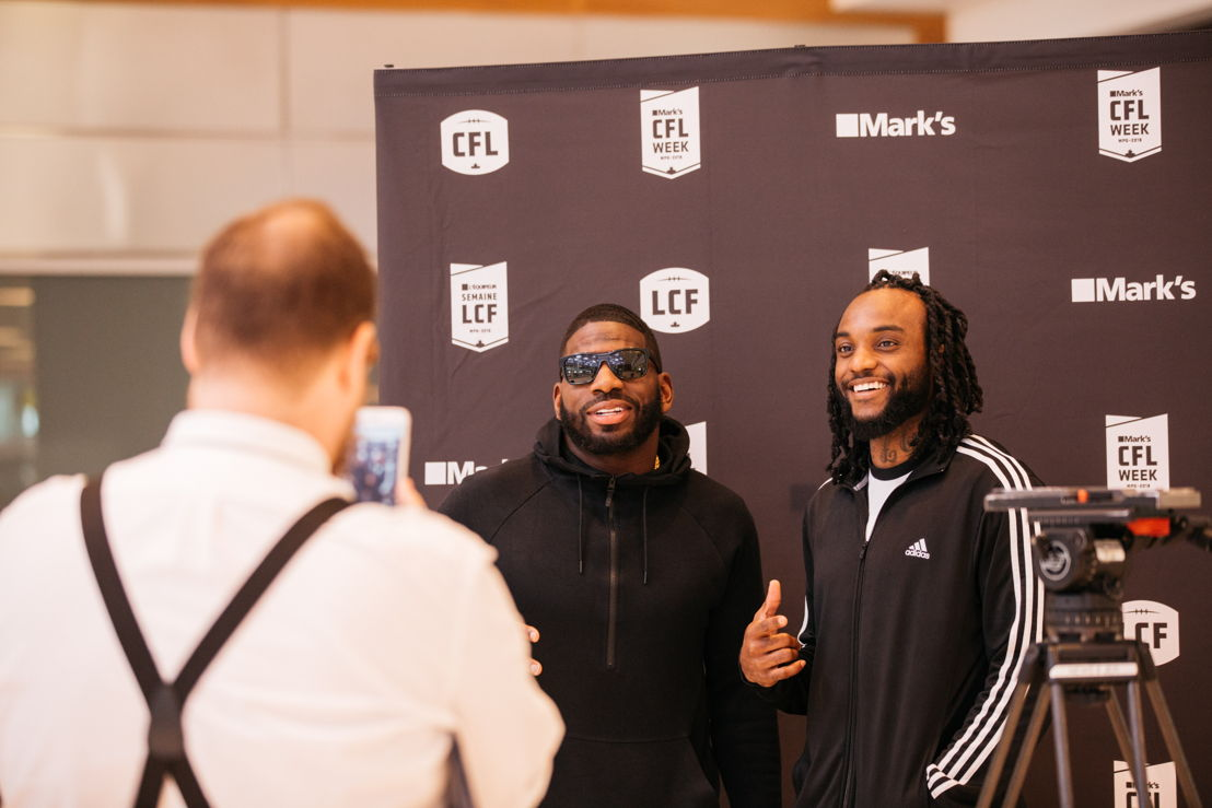 Larry Dean and Odell Willis arrive in Winnipeg for Mark's CFL Week. Photo credit: CFL.ca/Reid Valmestad