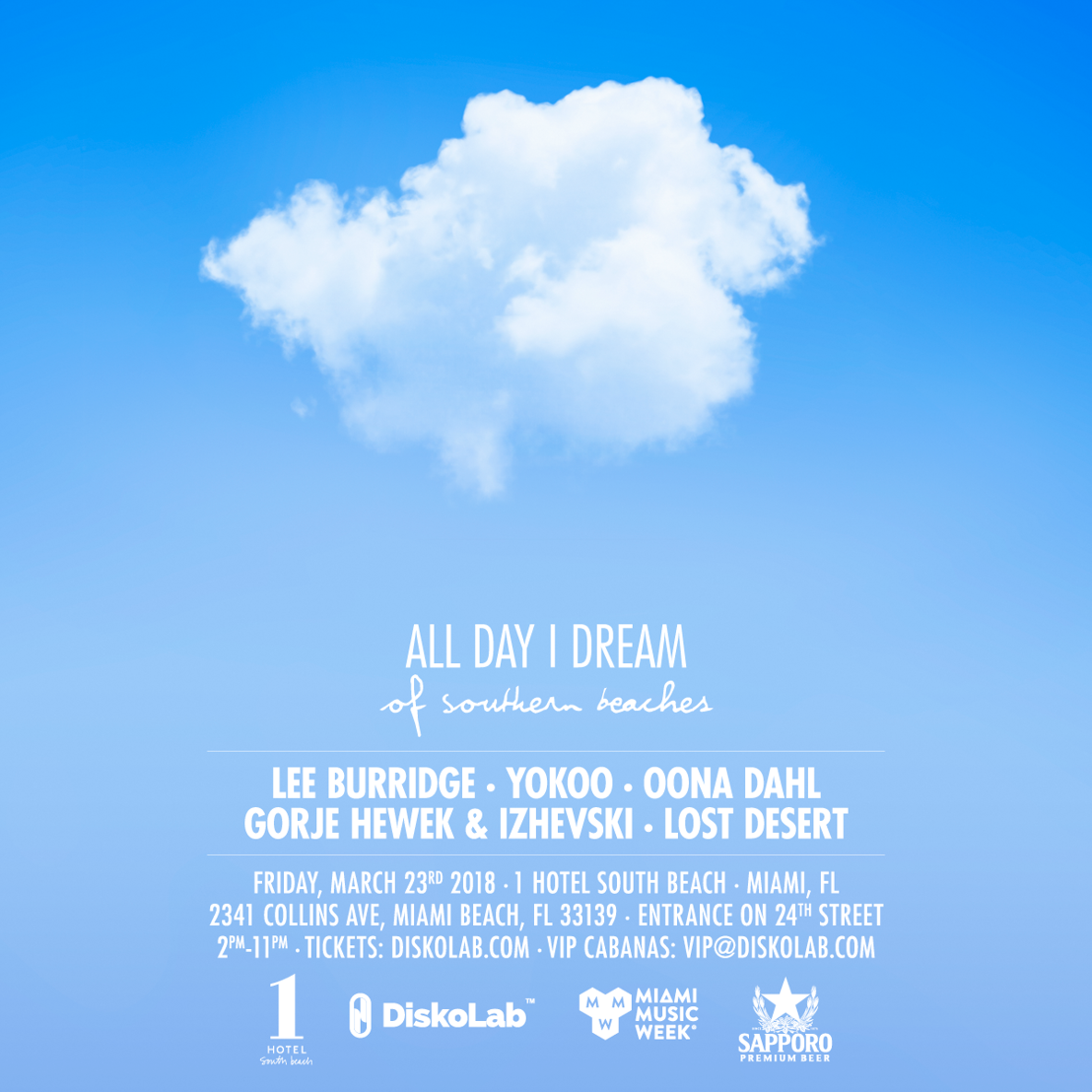 Lee Burridge Announces Lineup for All Day I Dream Event at Miami Music Week 2018