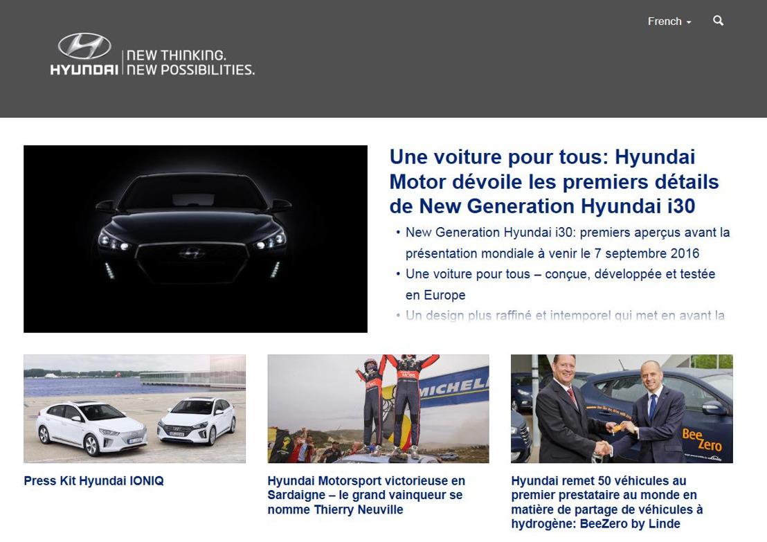 Hyundai Suisse a une nouvelle page Web pour la presse