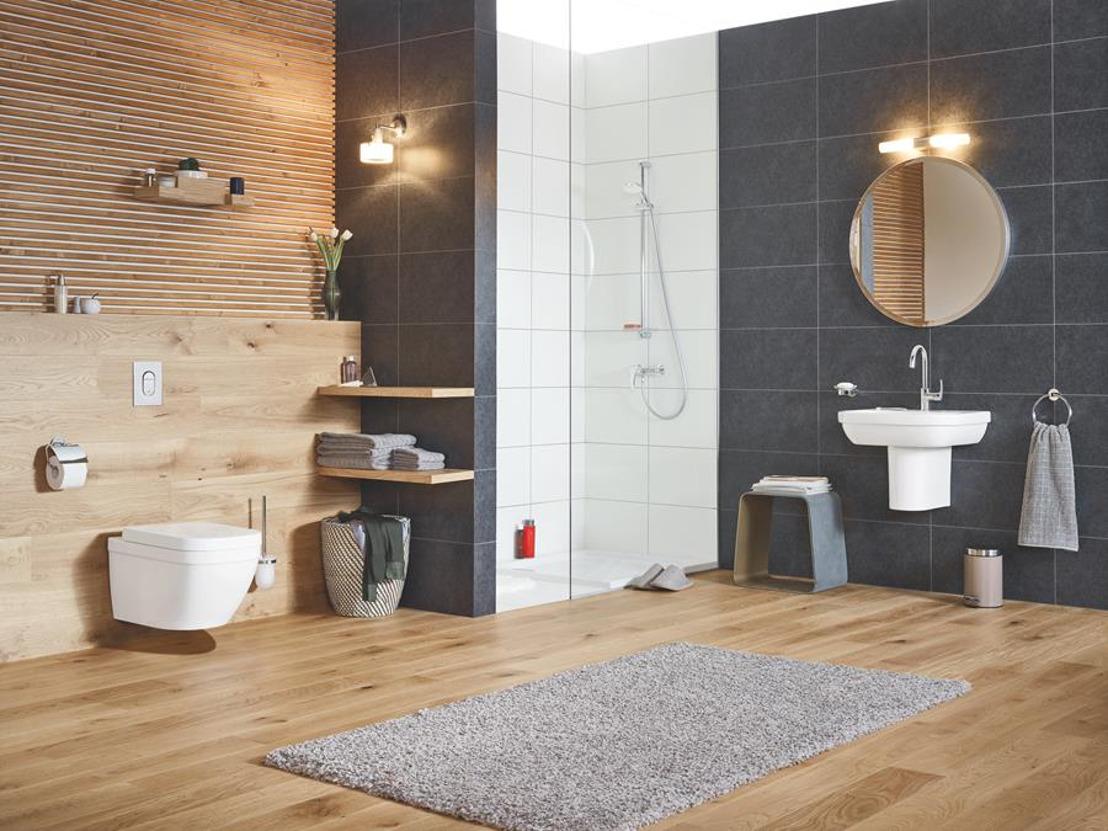 GROHE introduceert nieuwe keramiekseries Bau, Euro en Cube voor complete badkamerinrichting