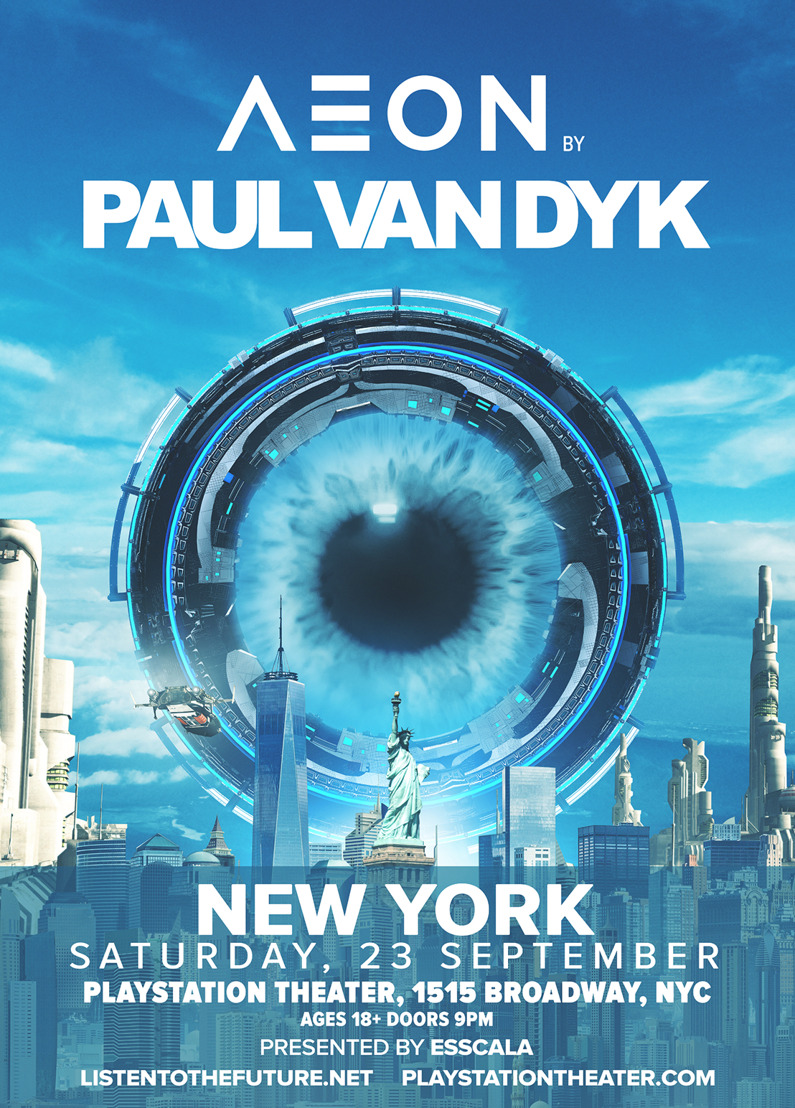 'AEON by Paul van Dyk', a New Audiovisual Performance Concept from Paul van Dyk + Debuting at NYC Show on September 23rd