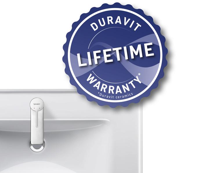 Duravit offre une garantie à vie sur la céramique