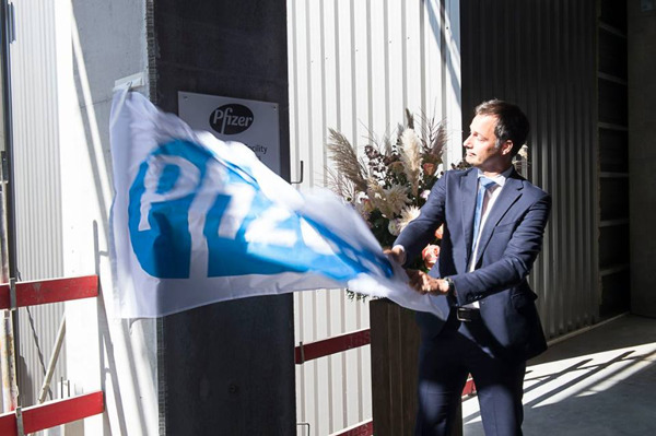 Preview: Le Ministre De Croo inaugure une nouvelle unité deproduction chez Pfizer à Puurs
