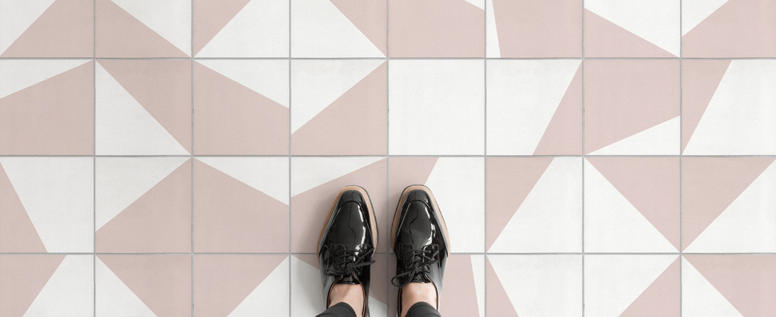 Creative coloured tiles are made easy with the Shifting Shapes collection