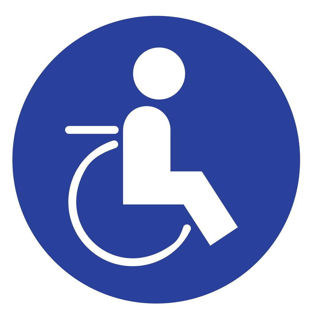 Pictogram: deze halte is toegankelijk voor een rolstoelgebruiker zonder assistentie.