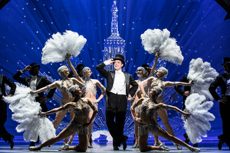 Nick Spangler and the An American in Paris Touring Company. Photo by Matthew Murphy