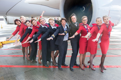 Brussels Airlines operates all-female flight to Kigali and Entebbe for International Women's Day