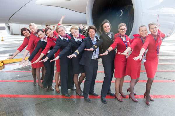 Preview: Brussels Airlines operates all-female flight to Kigali and Entebbe for International Women's Day