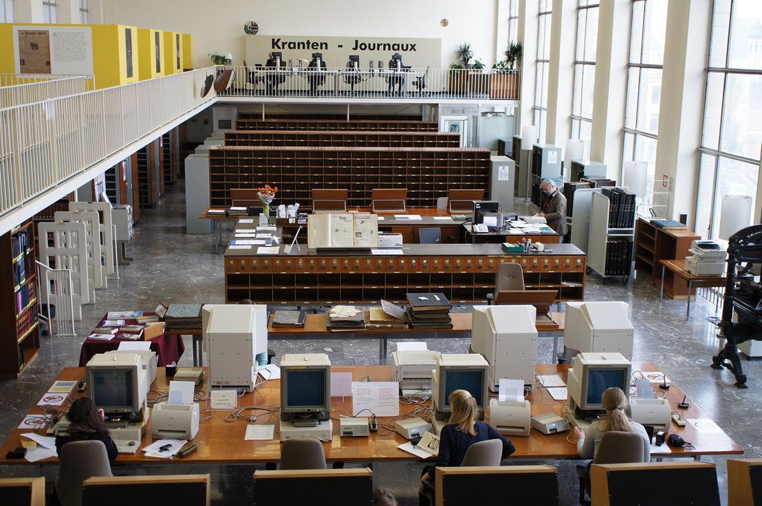 Leeszaal van de afdeling Kranten en hedendaagse media