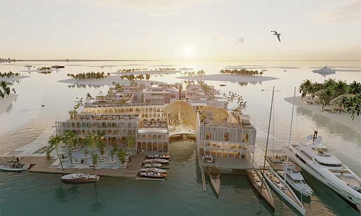 The Floating Venice - The World Islands. Estimated completion date: Q4 2020