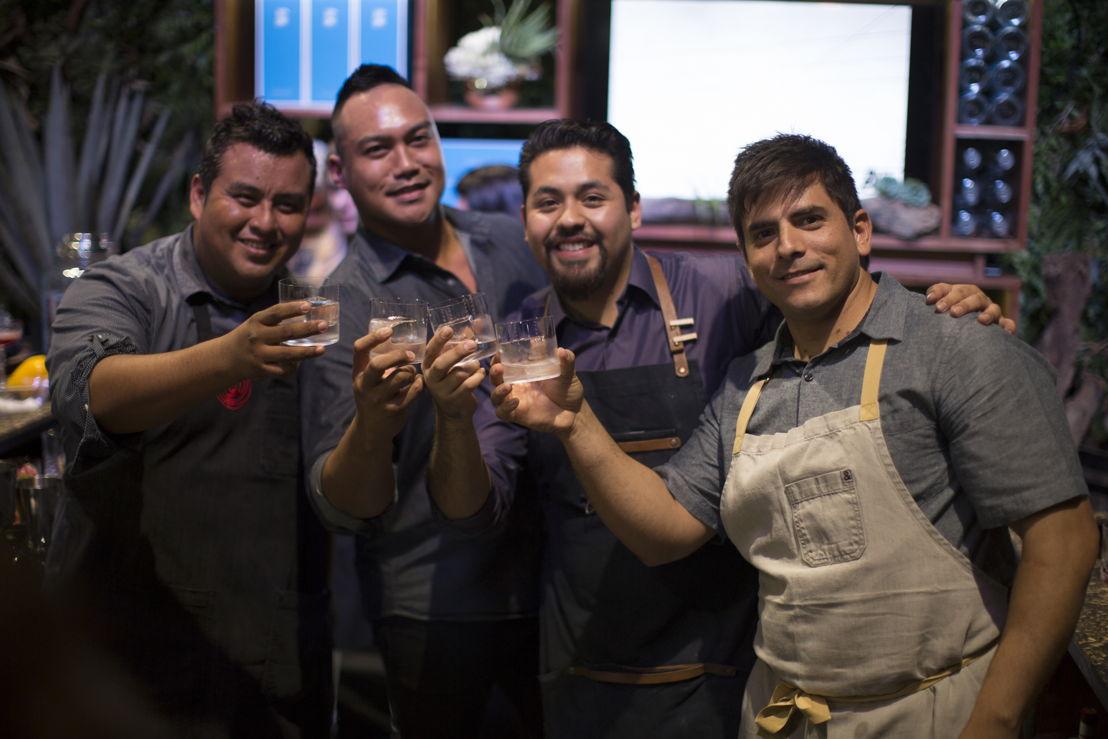 Osvaldo Vásquez de Chileno Bay, Devon Espinosa de Gusto, Alejandro Santracruz de The Back Room y Chef Yvan Mucharraz de Chileno Bay