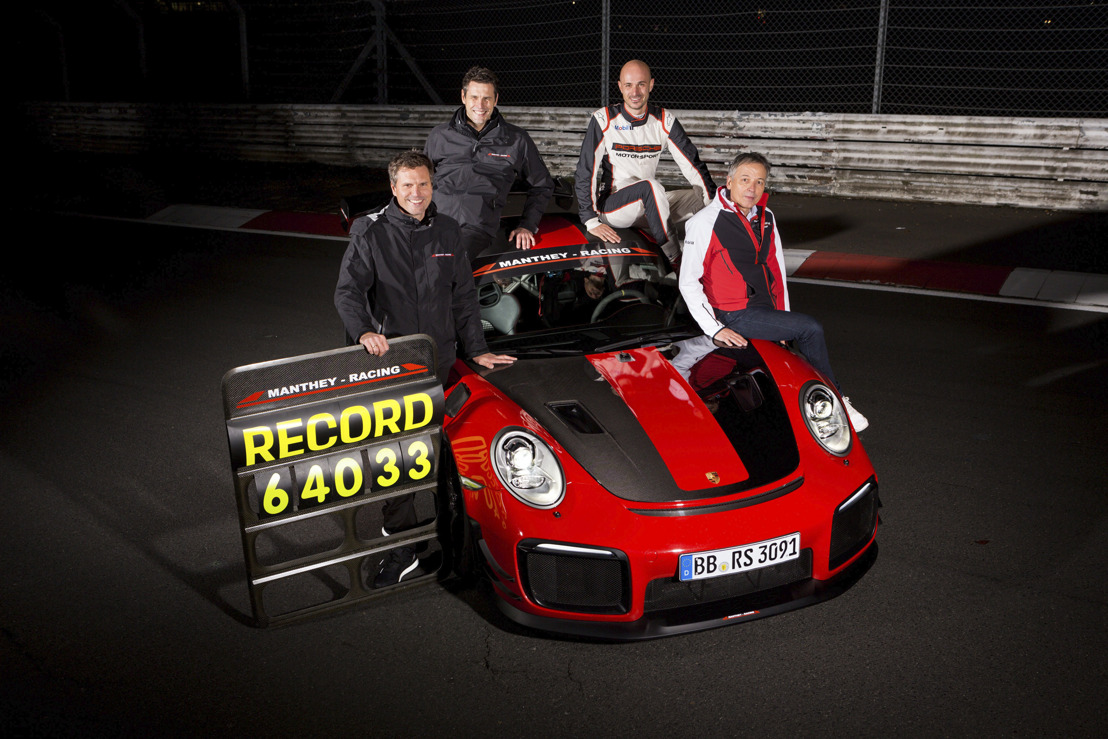 Porsche achieves new lap record on the Nürburgring-Nordschleife