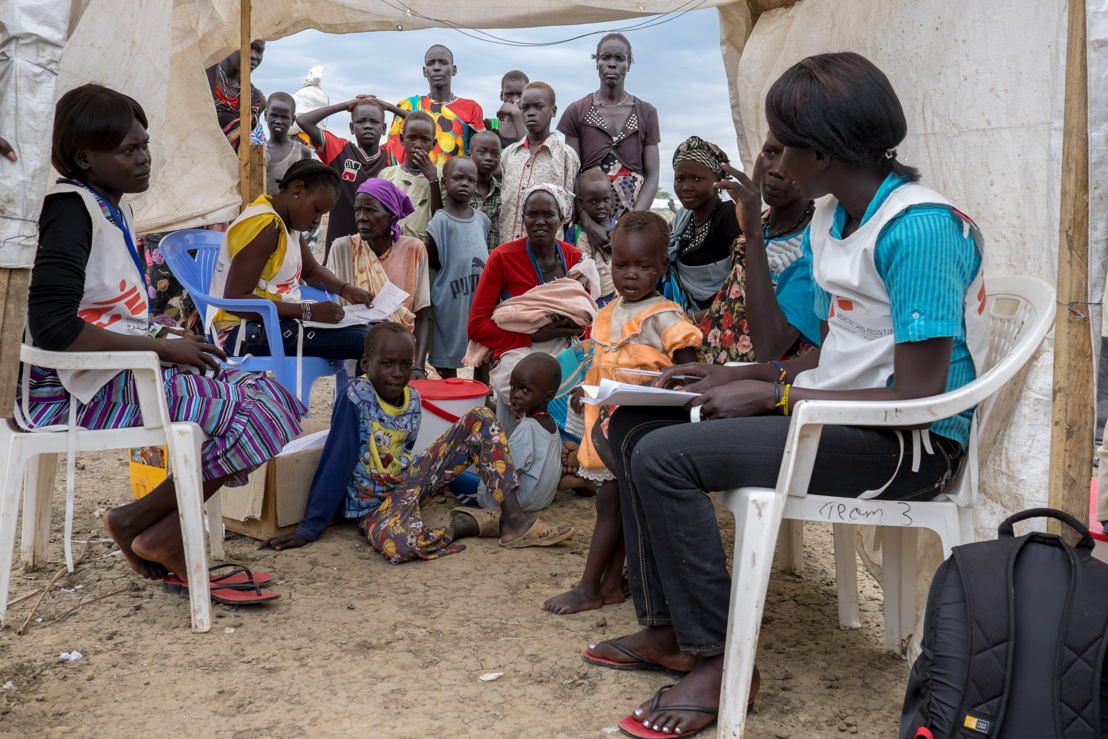 """Consultations dans le site """"de protection des civils"""" à Bentiu. (c) MSF"""