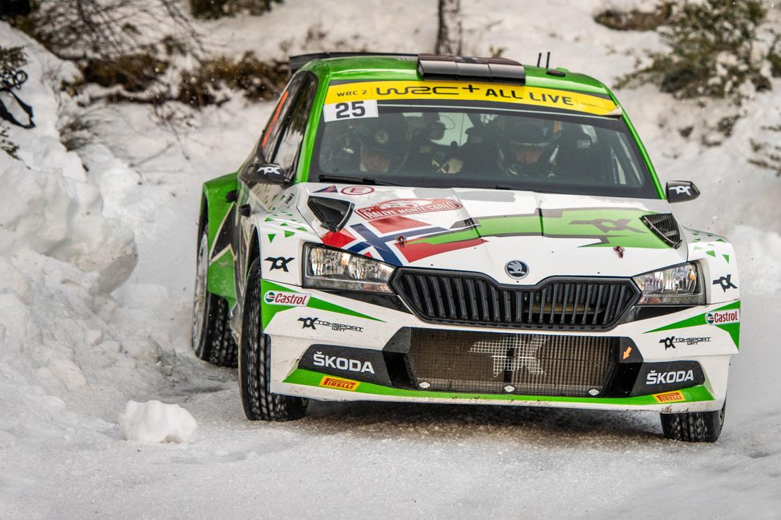 Rallye Monte-Carlo: ŠKODA Motorsport supported Andreas Mikkelsen wins WRC2