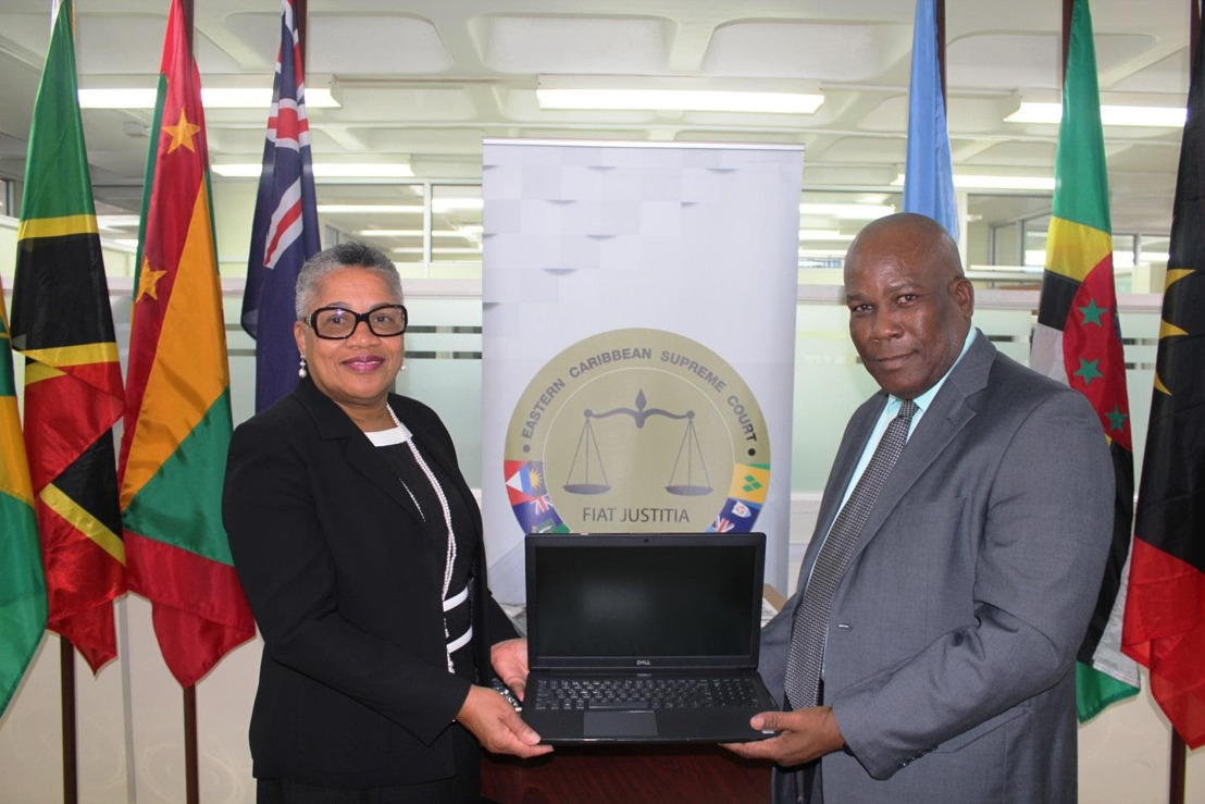 Judicial Reform and Institutional Strengthening (JURIST) Project Donates 10 Laptops to the Eastern Caribbean Supreme Court