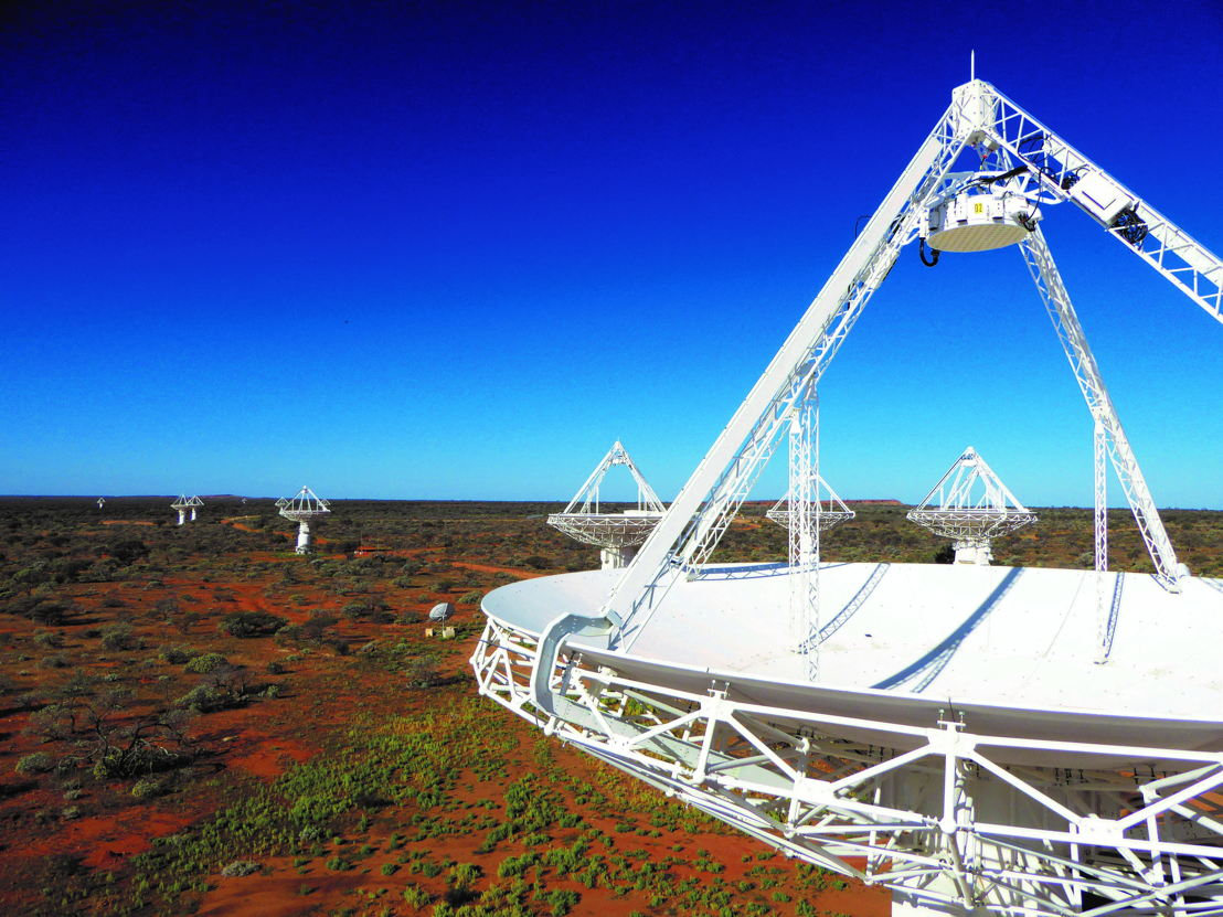CSIRO's powerful new radio telescope, the Australian Square Kilometre Array Pathfinder (ASKAP). Image credit: CSIRO