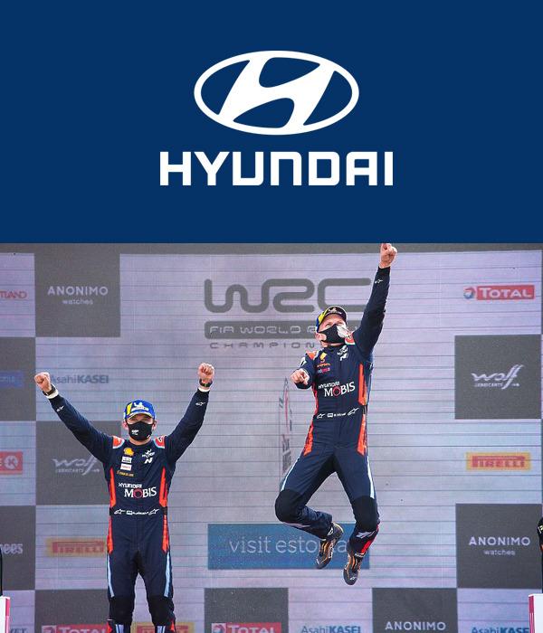 ¡Increíble 1-2 en Estonia del equipo de WRC de Hyundai Motorsport !